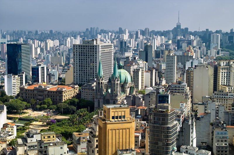 Brazilië skyline van Sao Paolo