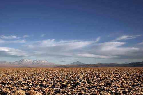 zoutmijnen in de Atacata woestijn, Chili