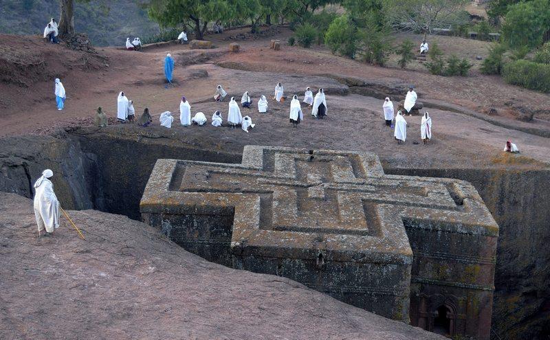 Ethiopië kerk van Lalibela