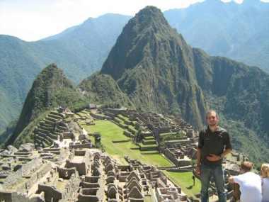 Hier sta ik dan! Bij Machu Picchu.
