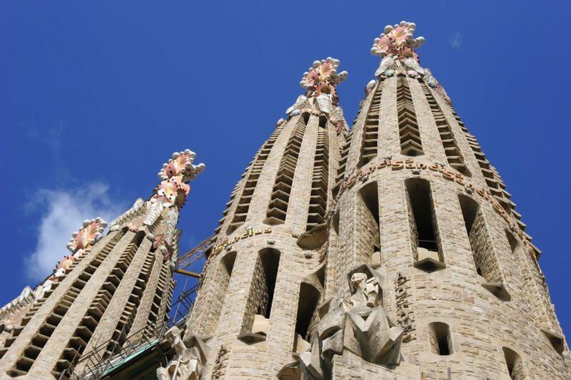 Spanje Barcelona Salgrada Famiglia