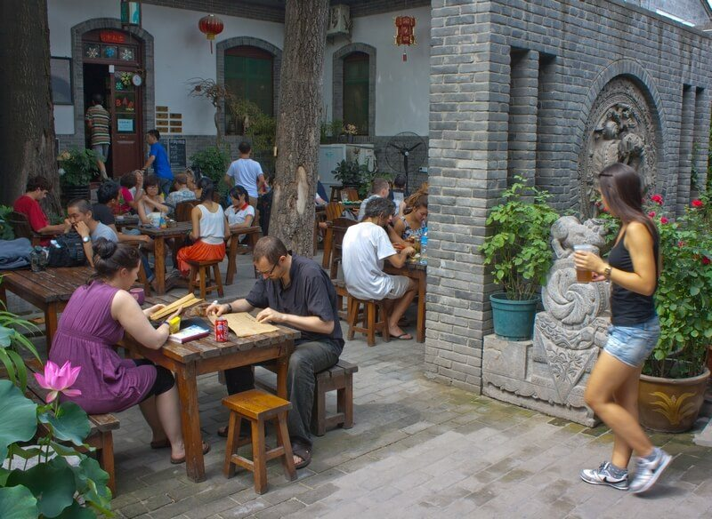 Internationale hostel in Xian, China