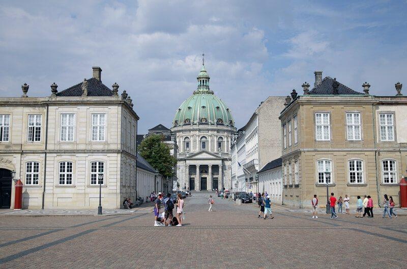 Kopenhagen, - Centrum van de Kerk van Frederik.