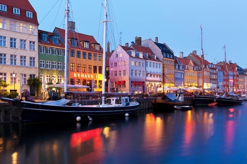 Kopenhagen - Nyhavn Denemarken.