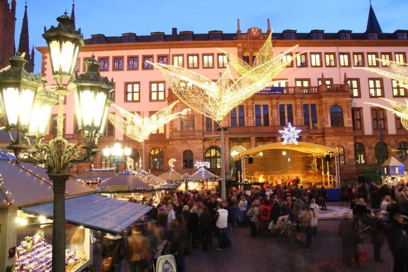kerstmarkt in Wiesbaden