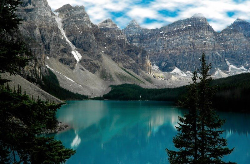 Canada Banff National Park lake Moraine