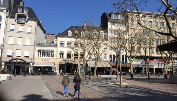binnenstad van luxemburg-stad centrum