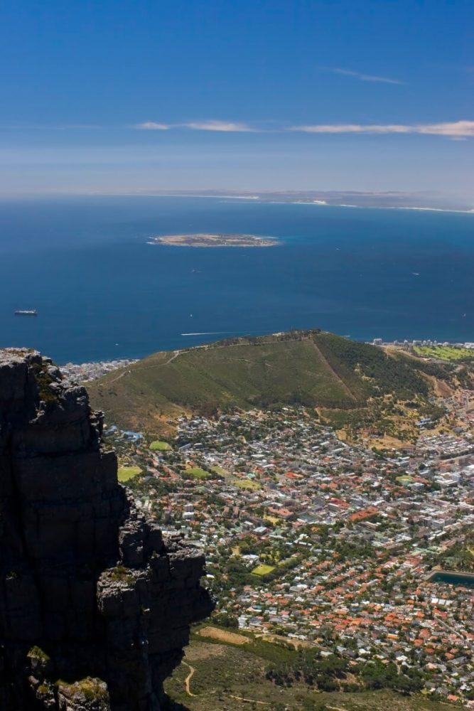 hoogtepunten van zuid-afrika - uitzicht tafelberg in Kaapstad