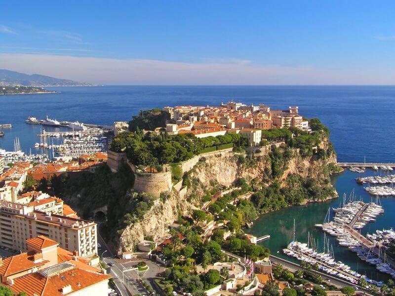 Monaco het kasteel op de rots