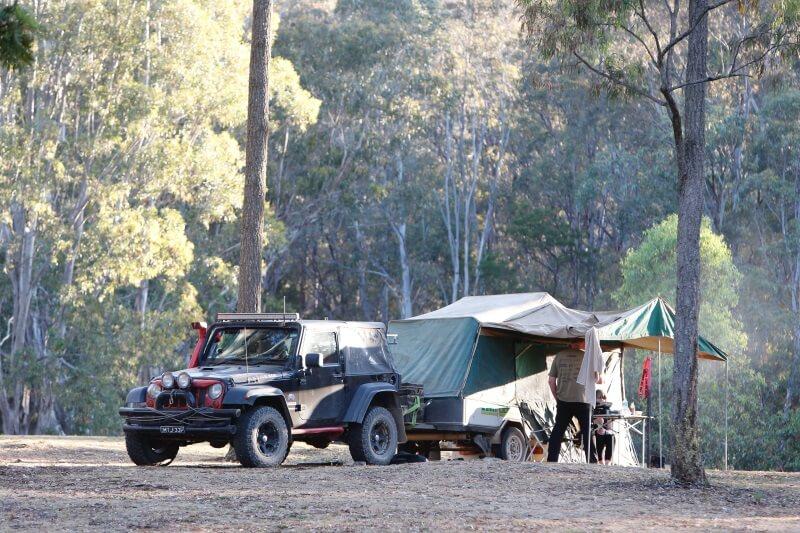 vouwwagen kamperen op camping