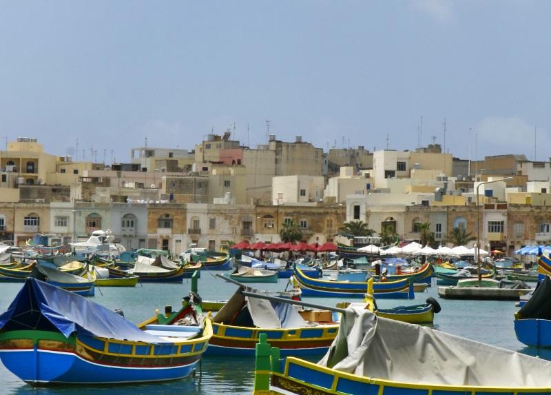 Malta Marsaxlokk vissersplaats