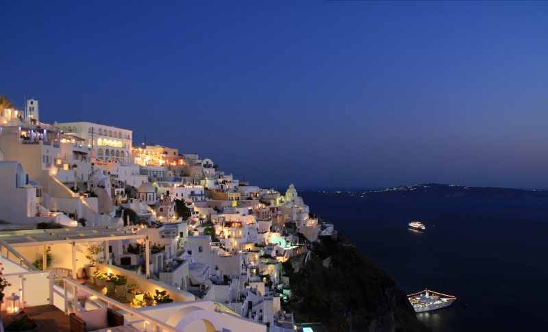 Griekenland, santorini het stadje Fyra
