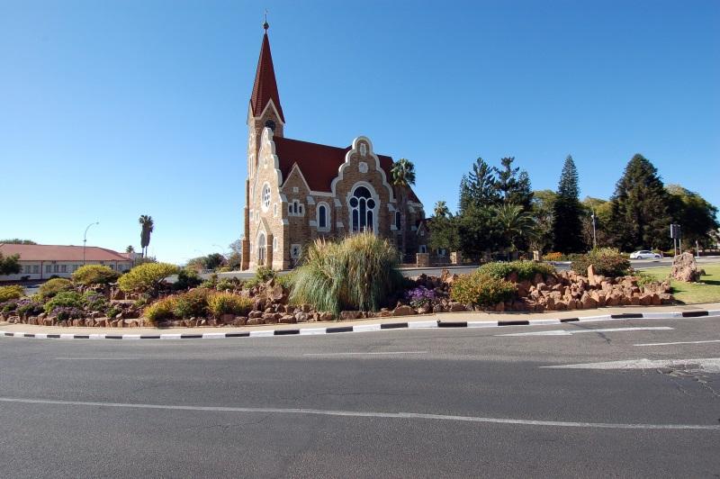 Namibië Christelijke kerk in de hoofdstad Windhoek