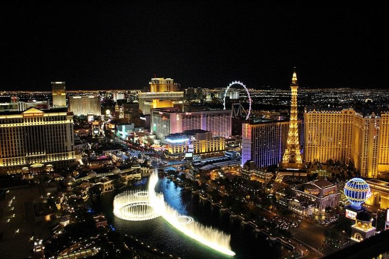 overzicht by night van Las Vegas
