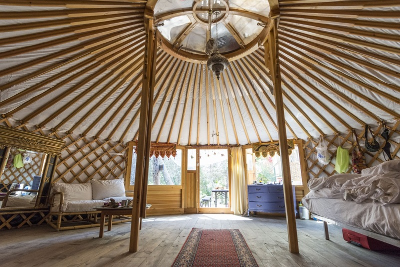 glamping in een yurt