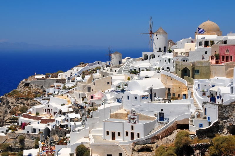 Griekenland Santorini Oia stad - kopie