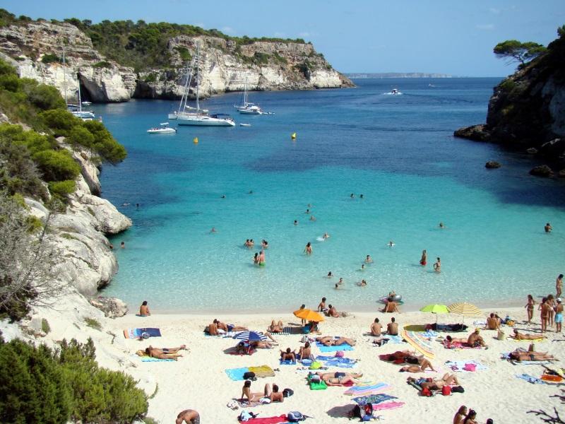 Spanje Menorca strand Cala Macarelleta
