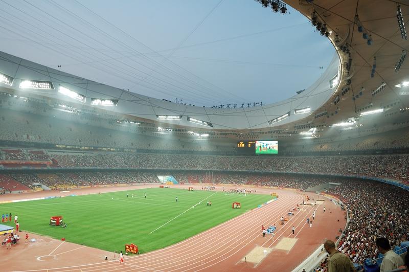 Beijing - Olympisch stadion van binnen