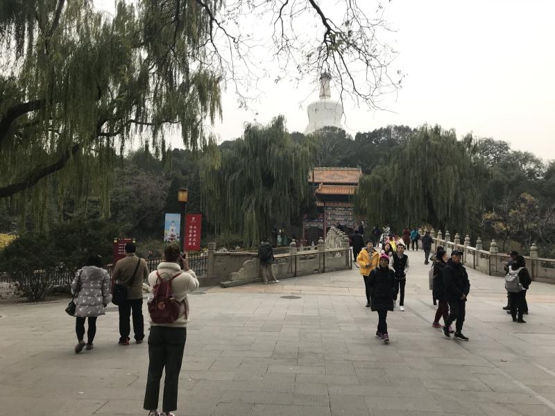 Beihai park, een van de bezienswaardigheden in Beijing, China.