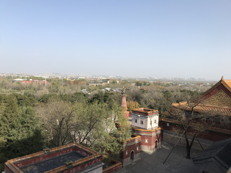 zomerpaleis Beijing, uitzicht over het park