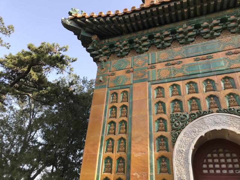 zomerpaleis Beijing, details van een tempel