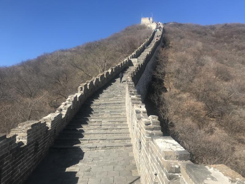 Chinese Muur bij Mutianyu.