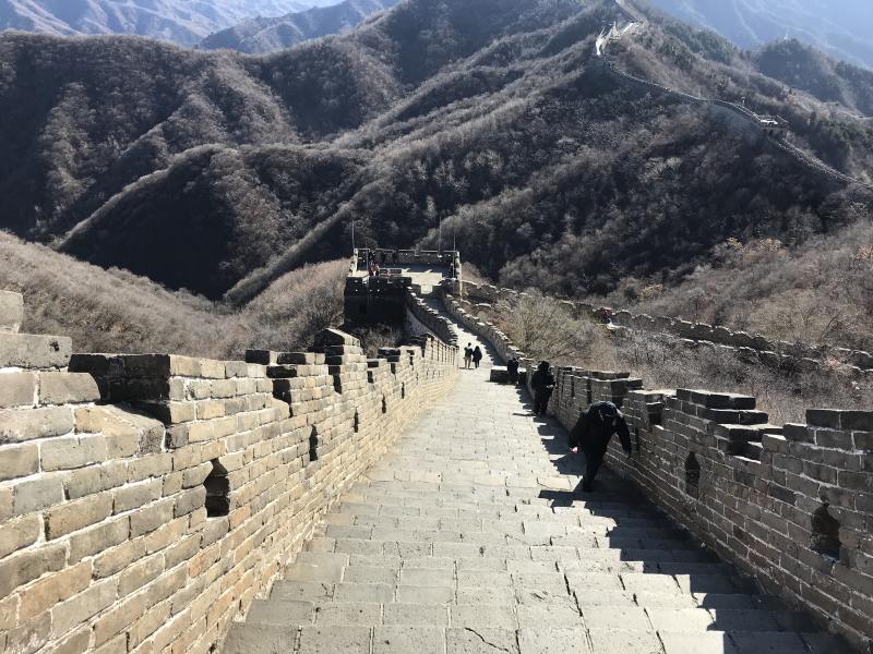 Chinese Muur bij Mutianyu, Beijing