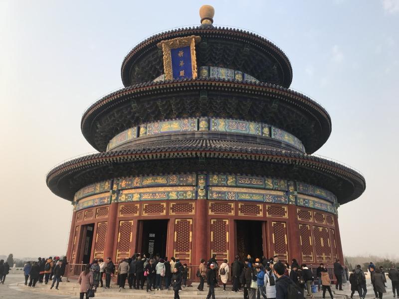 temple of heaven park in Beijing