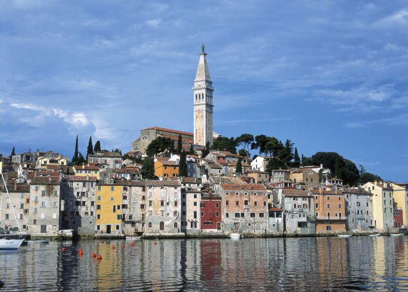 Kroatië de historische stad Rovinj