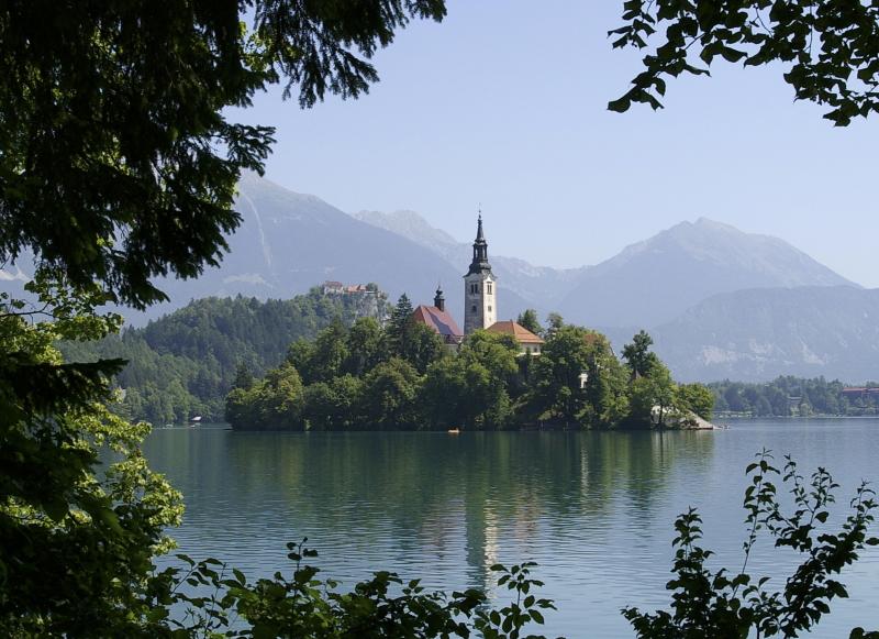 Slovenië Lake Bled kerk