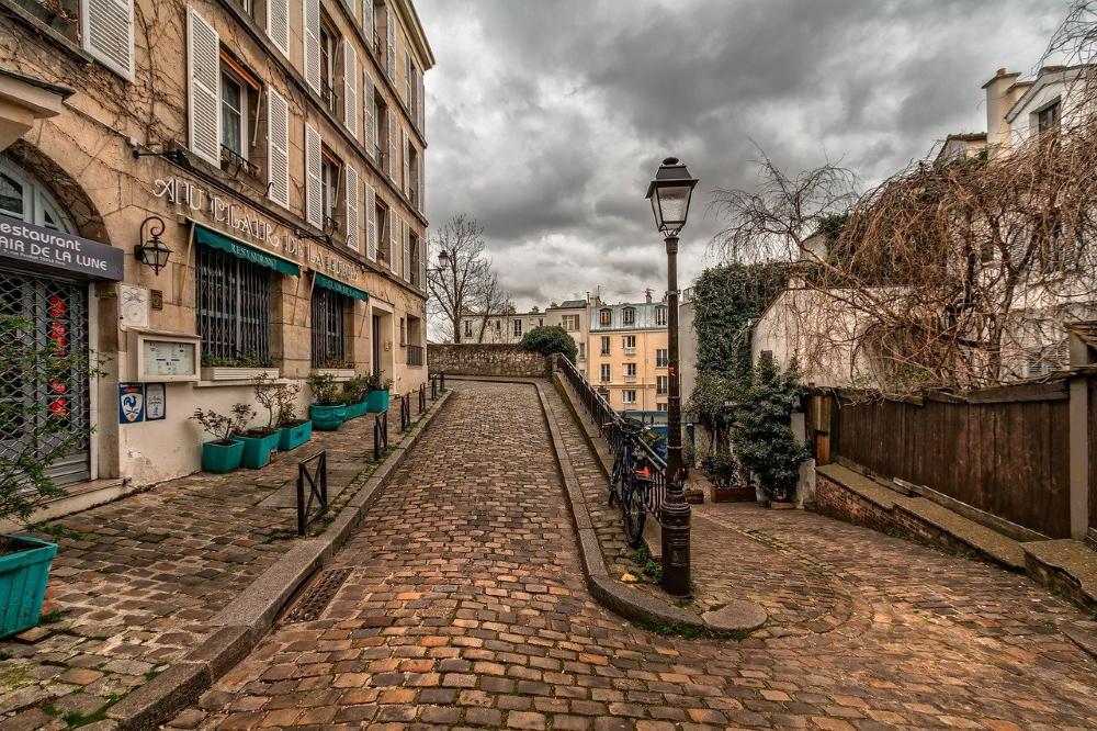 een straatje in de Montmartre