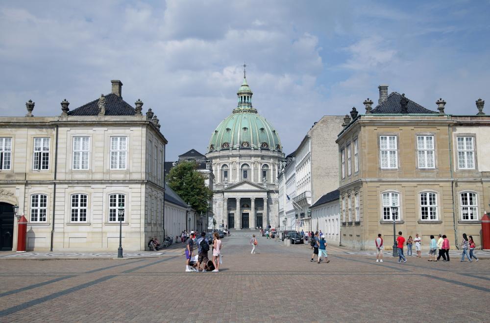 Het centrum van Kopenhagen, met de Frederikskerk.