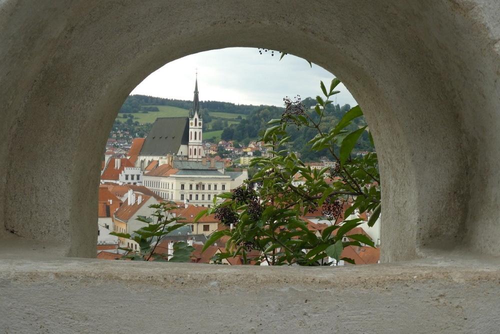 cesky krumlov, de binnenstad