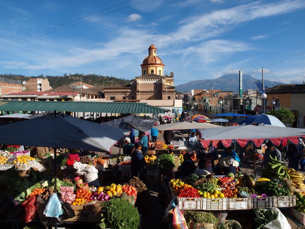 Ecuador de markt in Otavalo