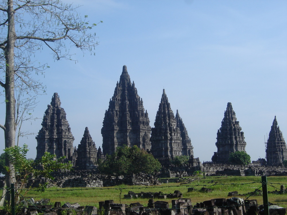 Indonesië Prambanan in Java Jogjakarta
