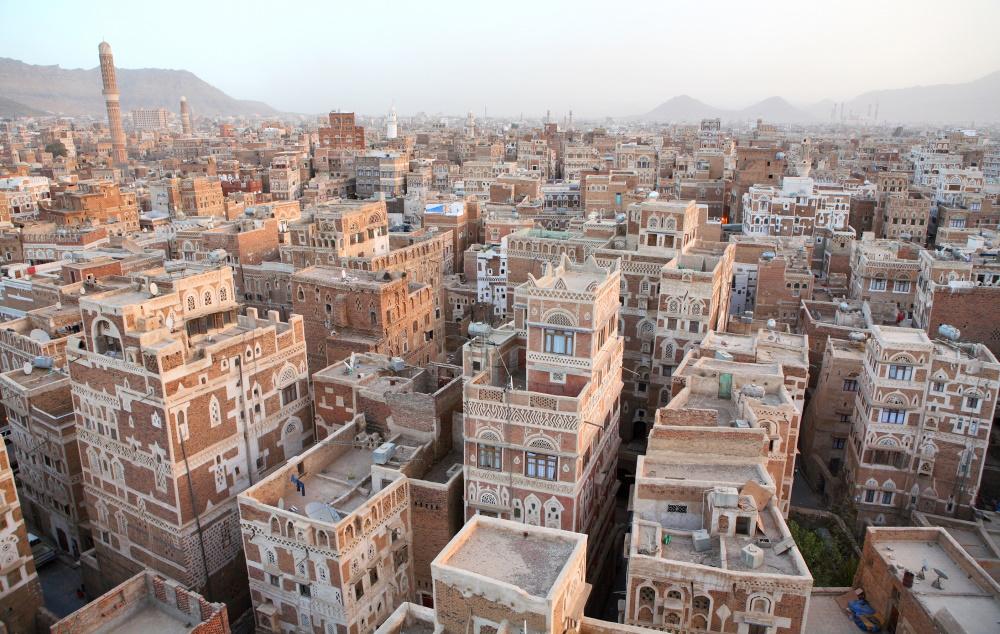 Jemen Sanaa oude gebouwen