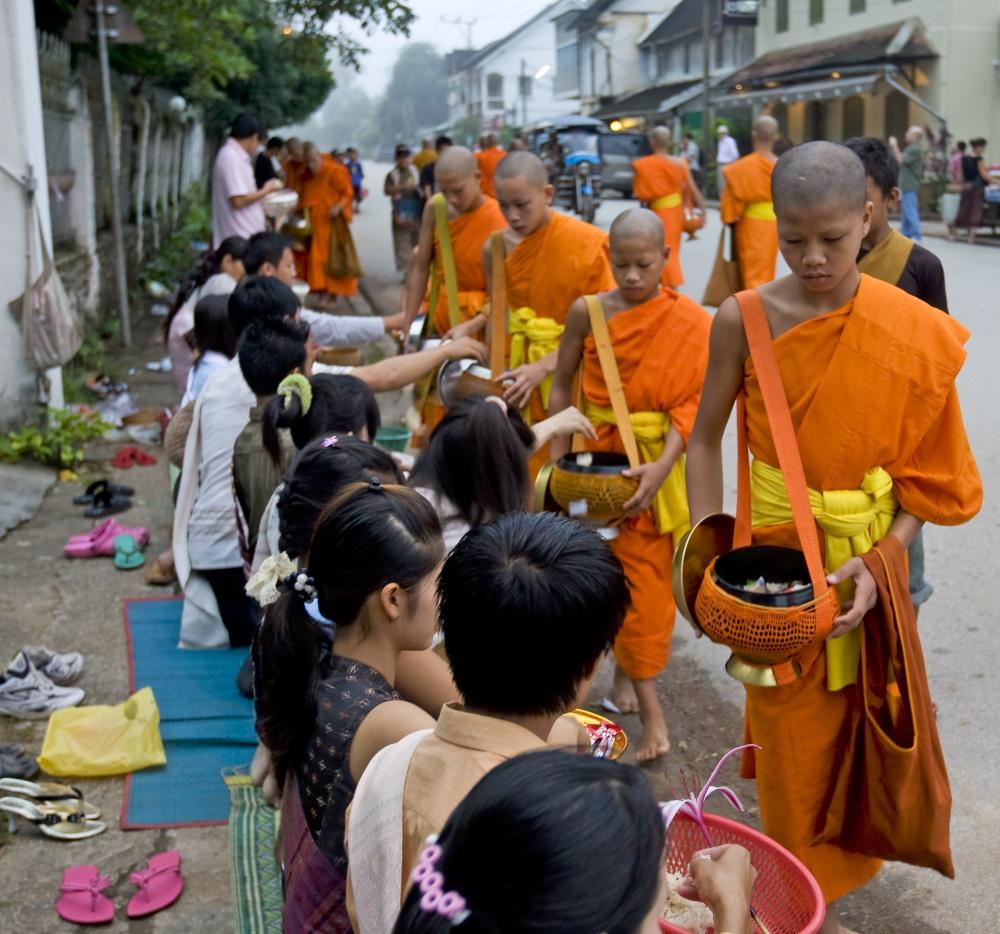 Laos Luang Prabang boeddistische monniken