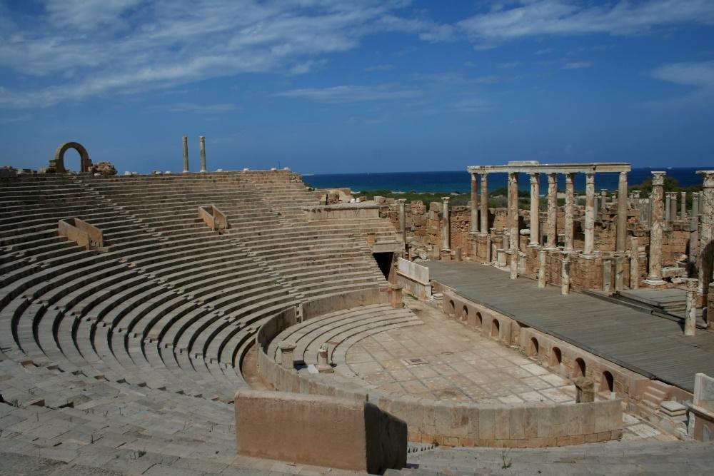Libië het forum in Leptis Magna