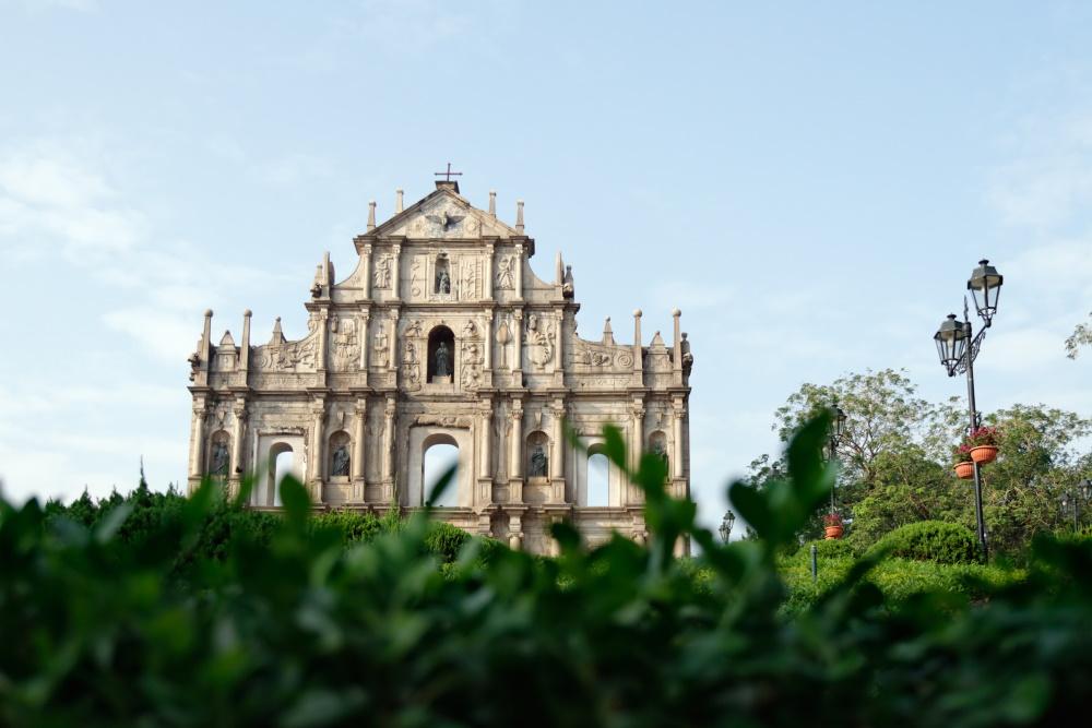 Macau ruines van de kathedraal van ST Paul