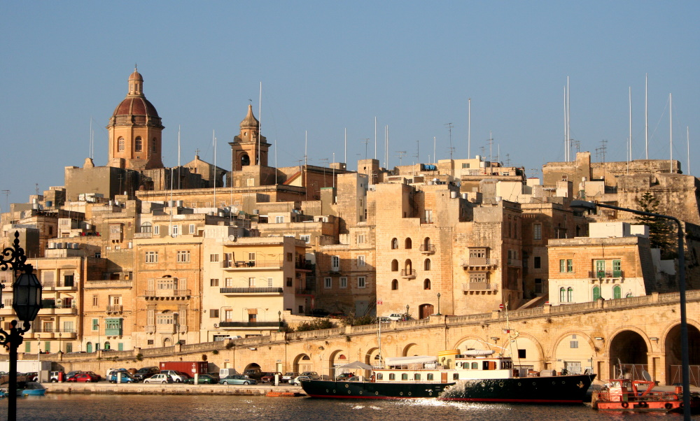 Panoramic view of Valetta capital city of Malta