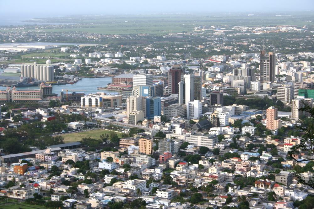 overzicht van Port-Louis, mauritius