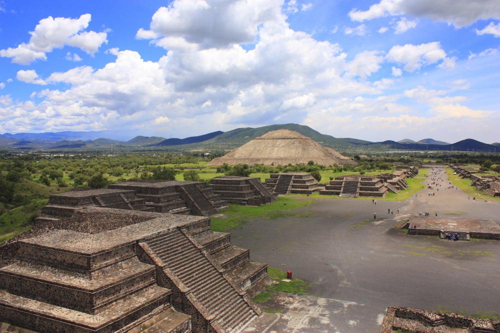 Mexico de piramides van Teotihuacan