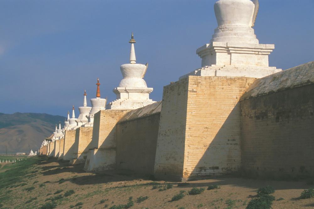 Mongolie Boeddhistische stupa in Karakorum - the oude hoofdstad van Mongolie