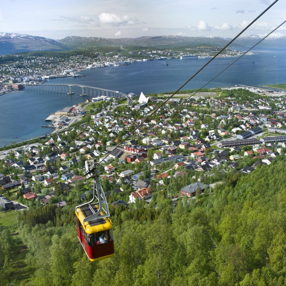 Noorwegen Tromso kabelbaan