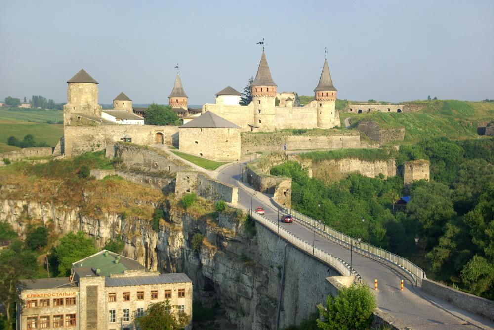 Medieval castle in Ukraine.