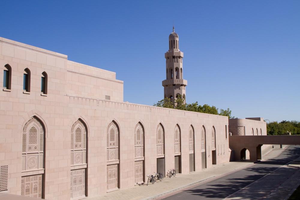Oman Muscat grote moskee minaret