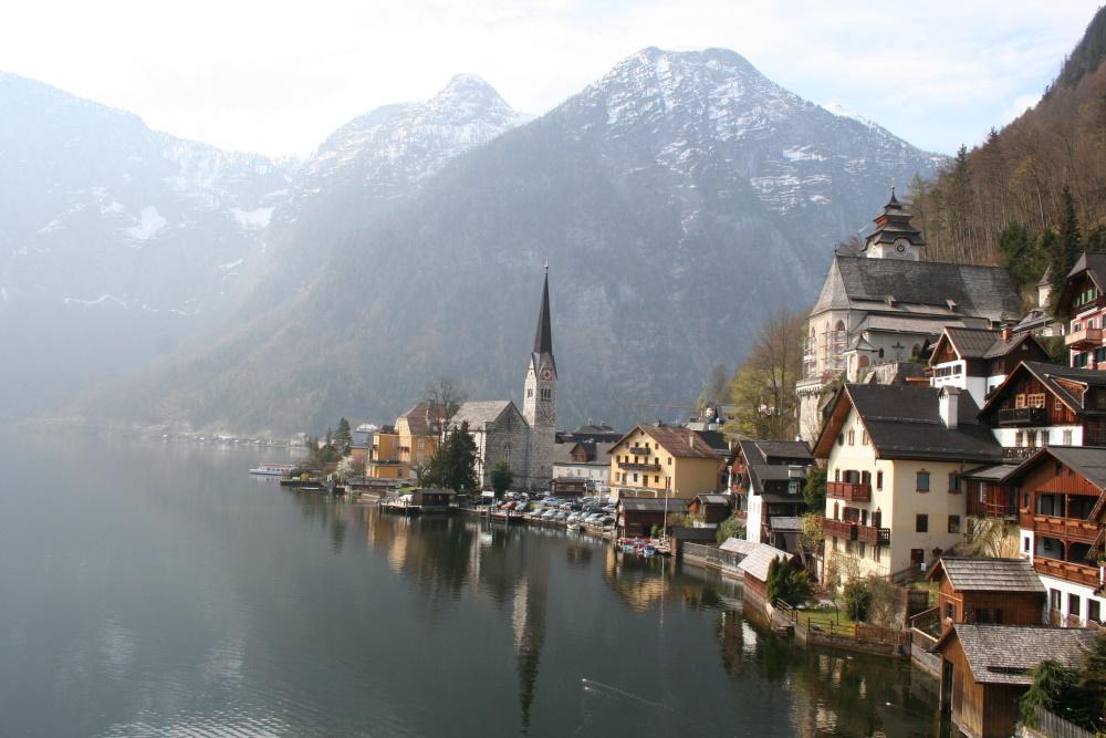 Oostenrijk Hallstatt aan het meer