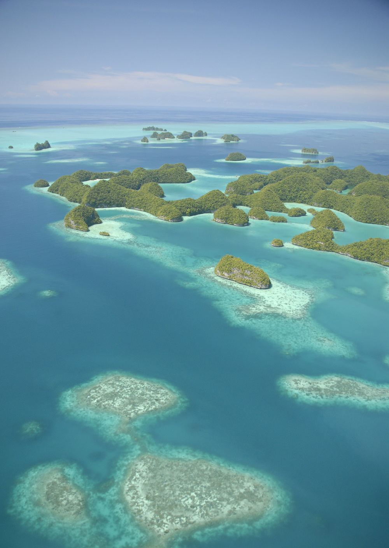 Palau overzicht over Seventy islands
