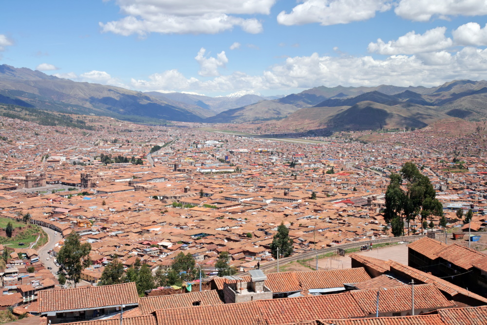 Peru Cusco overzicht van de stad (2)
