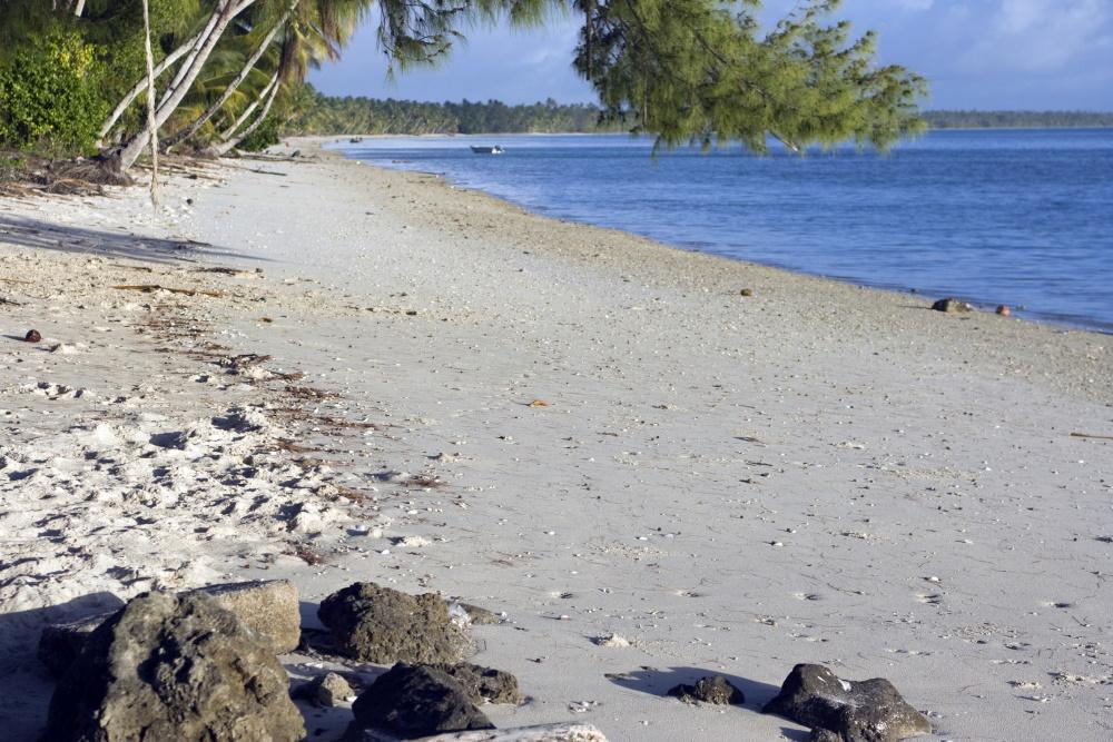 Pitcairn eilanden strand